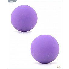 Металлические вагинальные шарики с фиолетовым силиконовым покрытием  Два шарика со смещённым центром тяжести для тренировки мышц влагалища.