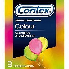 Разноцветные презервативы CONTEX Colour - 3 шт.  В упаковке Contex Colour Вы найдете три ярких, цветных презерватива.