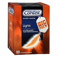 Особо тонкие презервативы Contex Lights - 18 шт.  Как достичь естественности ощущений без ущерба для защиты? Ответ на этот вопрос Вы обязательно найдете в упаковке с новым Contex Lights.
