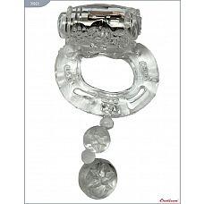 Кольцо с вибрацией и дополнительной стимуляцией  Кольцо с вибратором и дополнительной стимуляцией, EROTICON^ Vibro Ring.