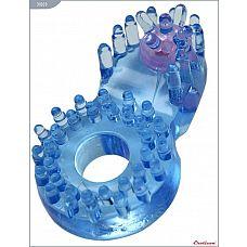 Кольцо с клиторальным язычком и шипиками  Кольцо с клиторальным стимулятором, в ассортименте, EROTICON^ Sex Ring.