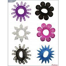 Набор из 6 эрекционных колец различной формы и цвета  Кольца, набор из 6 штук, EROTICON^ Sex Ring.