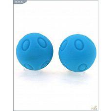 Металлические шарики Wicked с голубым силиконовым покрытием  Тренажер Кегеля Wicked, металлические с силиконовым покрытием, голубые.