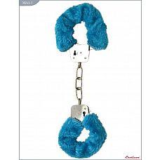 Металлические наручники с голубым мехом  Металлические наручники, изготовленные из высококачественной стали.