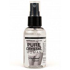 Женский парфюмированный спрей для нижнего белья Pure Cristal - 50 мл.  Парфюмированный спрей  с феромонами и ионами серебра Pure Crystal для женщин.