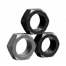 Набор из 3 эрекционных колец разного цвета  Набор из трех эрекционных колец из эластичного гелевого материала разных цветов.