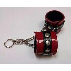 Брелок в виде красо-чёрных наручников  Брелок сувенир «Наручники».