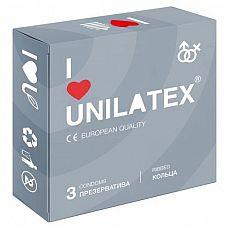 Презервативы с рёбрами Unilatex Ribbed - 3 шт.  Презервативы из натурального латекса телесного цвета, с рифленой поверхностью, покрыты силиконовой смазкой с нейтральным ароматом.