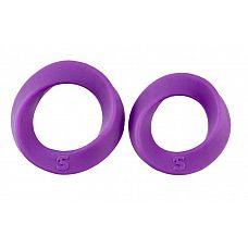 Набор фиолетовых эрекционных колец Endless Cocking Set  Контролировать эрекцию просто, если у вас есть этот набор из двух фиолетовых колец разного размера.