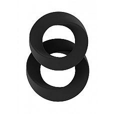 Набор чёрных эрекционных колец SONO  24  Набор чёрных эрекционных колец SONO  24.
