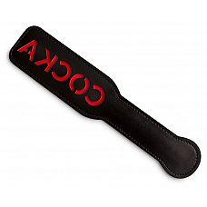 Чёрная шлёпалка с надписью  Соска  - 31 см.  Если ты девочка, которая любит доминировать, тебе нужен аргумент, который поможет тебе отдавать приказы Рабу.