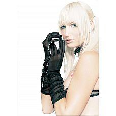 Полупрозрачные перчатки с отделкой стразами  Полупрозрачные перчатки с отделкой стразами.