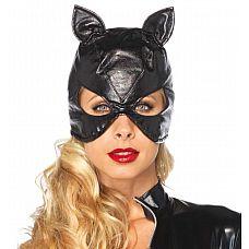 Маска кошки из искусственной кожи  Маска кошечки от компании Leg Avenue из искусственной кожи черного цвета. Универсальный размер.