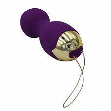 Фиолетовые вагинальные шарики Lust с вибрацией  Вибростимулятор Lust - это многофункциональный стимулятор, включающий в себя тренажер Кегеля и мини-вибратор.
