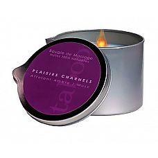 Массажная свеча Taboo Plaisirs Charnels с ароматом амбры и мускуса - 165 гр.  Массажная свеча Taboo с насыщенным ароматом амбры и мускуса изготовлена во Франции и содержит только натуральные масла.