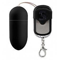 Чёрное виброяйцо Silicone Remote controlled Egg с дистанционным управлением  Это беспроводное виброяйцо имеет 10 различных режимов, устанавливаемых с помощью пульта дистанционного управления.