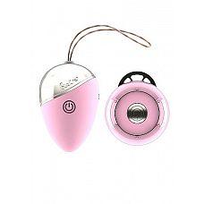 Розовое виброяйцо Isley с пультом ДУ  Из-за внешнего вида Isley и  ощущений при использовании можно подумать, что эта игрушка вернулась из 50-х годов в наше время.