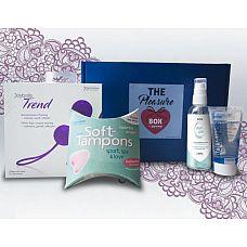 Набор для тренировки интимных мышц The Pleasure Box с фиолетовыми вагинальными шариками  Набор The Pleasure Box состоит из:  - вагинальных шариков из медицинского силикона со смещенным центром тяжести.