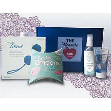 Набор для тренировки интимных мышц The Pleasure Box с синими вагинальными шариками  Набор The Pleasure Box состоит из:  - вагинальных шариков из медицинского силикона со смещенным центром тяжести.