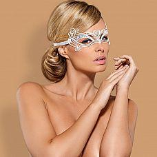 Белая металлическая маска на завязках  Белая металлическая маска на завязках.