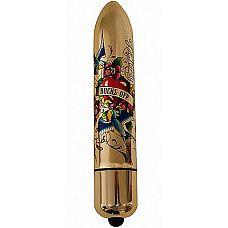 Золотистый вибратор If You Love Me - 16 см.  Такой вибратор просто обязан быть в арсенале любой искательницы удовольствия! Этот ультра мощный вибратор доставит удовольствие именно  там, где это вам необходимо.