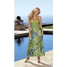 Нежное длинное платье с сетевым шлейфом  Длинное платье на регулируемых бретельках, сзади сетевой шлейф, на спинке большой вырез с поперечной завязкой.