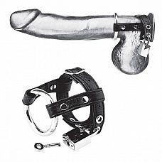 Утяжка на пенис на замочке Duo Cock And Ball Lock  Утяжка на пенис на замочке Duo Cock And Ball Lock.