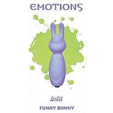 Фиолетовый мини-вибратор с ушками Emotions Funny Bunny Lavender  Миниатюрная вибропуля Funny Bunny легко поместится в сумочке или в кармане и всегда будет под рукой в нужный момент.