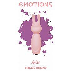 Розовый мини-вибратор с ушками Emotions Funny Bunny Light pink  Миниатюрная вибропуля Funny Bunny легко поместится в сумочке или в кармане и всегда будет под рукой в нужный момент.