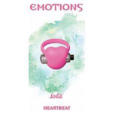 Розовое эрекционное виброкольцо Emotions Heartbeat Light pink   Эрекционное кольцо Emotions Heartbeat pink от Lola Toys откроет новые эрогенные зоны у Вас и Вашего партнера, а так же продлит минуты наслаждения.