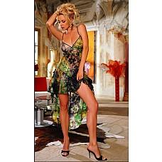 Длинная кружевная сорочка  Кружевная сорочка, украшенная блестками и вышивкой.