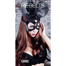 Чёрная маска Carrie Black с круглыми ушками  Чёрная маска Carrie Black с круглыми ушками.