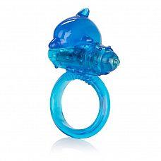 Эрекционное кольцо с вибрацией One Touch Dolphin  Яркий, удобный, эластичный эрекционный усилитель со съемным и многоразовым тонким микростимулятором.