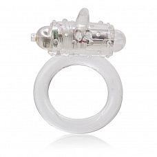 Прозрачное эрекционное кольцо с вибрацией One Touch Flicker  Прозрачное эрекционное кольцо с вибрацией One Touch Flicker.