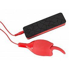 Красное виброяичко с язычком Motive  Вибратор Motive с красной вибропулей в форме язычка.