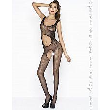 Костюм-сетка с вырезом на животике  Эротический костюм-сетка выполнен в модном современном стиле.