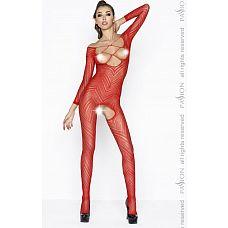 Костюм-сетка с открытой зоной декольте  Эротический костюм-сетка с открытой грудью и длинными рукавами.
