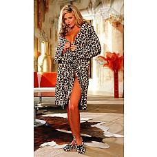 Фотографии: 1 | 2  Роскошный пушистый халат с леопардовым принтом или принтом зебры  Очень комфортный и мягкий халат с накладными карманами, внутренними завязочками и поясом.