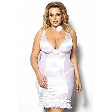 Облегающая полупрозрачная сорочка Tanise с открытой спиной  Полупрозрачная приталенная сорочка с открытой спиной.