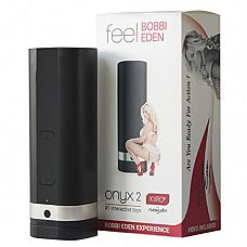 Мастурбатор Onyx 2 - Bobbi Eden, 24 см - Kiiroo, Черный  Kiiroo- Onyx 2 Bobbi Eden – инновационная игрушка, которая позволит заниматься сексом со своей партнершей даже во время её отсутствия.