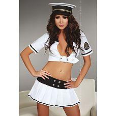 Костюм капитана Pallavi  Костюм обаятельного капитана, в комплект входит юбочка и с широким поясом, топ и головной убор.