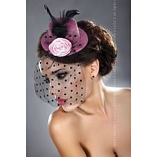 Розовая шляпка с вуалью  Розовая шляпка с вуалью.