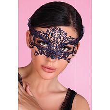 Синяя ажурная маска Mask Blue  Кружевная маска, завязка атласные ленты.