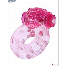 Розовое эрекционное кольцо «Медвежонок» с мини-вибратором  Кольцо «Медвежонок» с мини-вибратором, розовое.