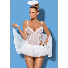 Костюм ангелочка Swangel от Obsessive   Представляем вам игривый костюм ангелочка Swangel от Obsessive! Вкомплектвходятбоди, юбочка, нимб, балетки.