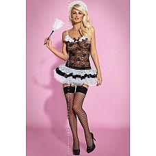 Kостюм Housemaid от Obsessive   Представляем вам изумительный и сексуальный костюмчик Housemaid от Obsessive! В комплект входят корсет, мини-юбка, трусики, головной убор и чулочки.
