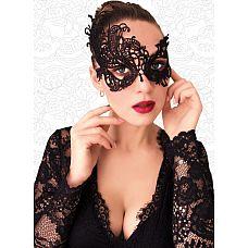 Ажурная асимметричная маска чёрного цвета  Ажурная асимметричная маска чёрного цвета.