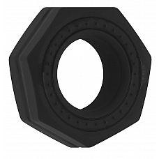 Чёрное эрекционное кольцо No.43 Cockring  Эрекционное кольцо.