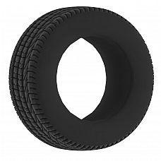 Чёрное эрекционное кольцо No.44 Cockring  Эрекционное кольцо.