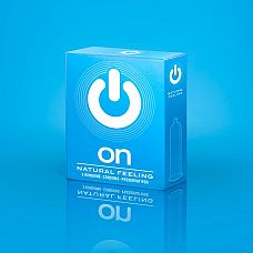 Классические презервативы ON) Natural feeling - 3 шт.  Презервативы классические, прозрачные, с лубрикантом и накопителем.